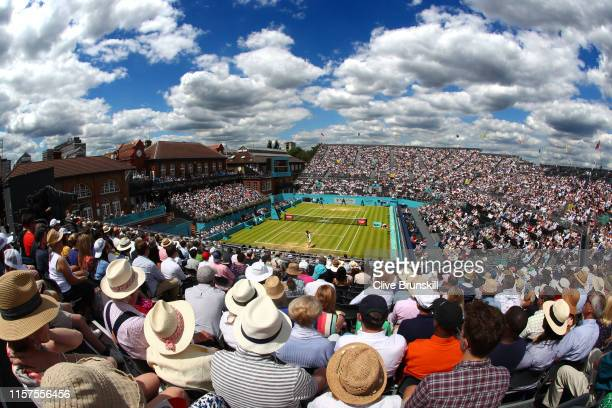 General view during the mens singles semi-final match between Daniil Medvedev of Russia and Gilles Simon of France during day six of the Fever-Tree...