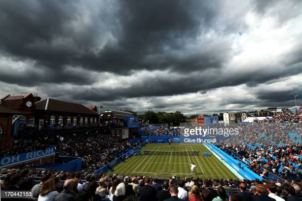 A general view during the Men's Singles third round match between JoWilfried Tsonga of France and Igor Sijsling of the Netherlands on day four of the...