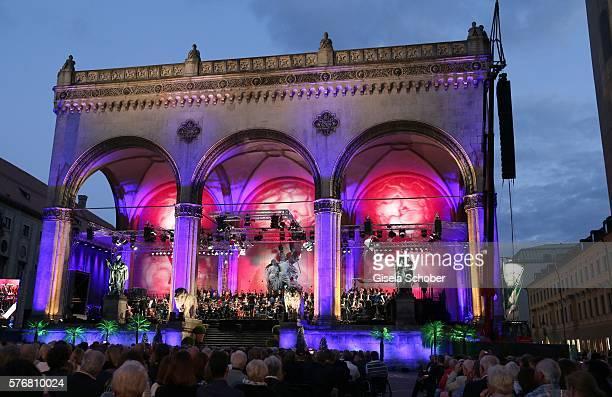 General view during the Mercedes-Benz reception at 'Klassik am Odeonsplatz' 2016 on July 17, 2016 in Munich, Germany.