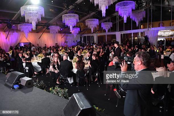 General view during the Milano Gala Dinner benefitting the Novak Djokovic Foundation presented by Giorgio Armani at Castello Sforzesco on September...