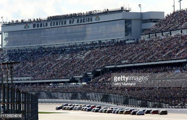 A general view during the Monster Energy NASCAR Cup Series 61st Annual Daytona 500 at Daytona International Speedway on February 17 2019 in Daytona...
