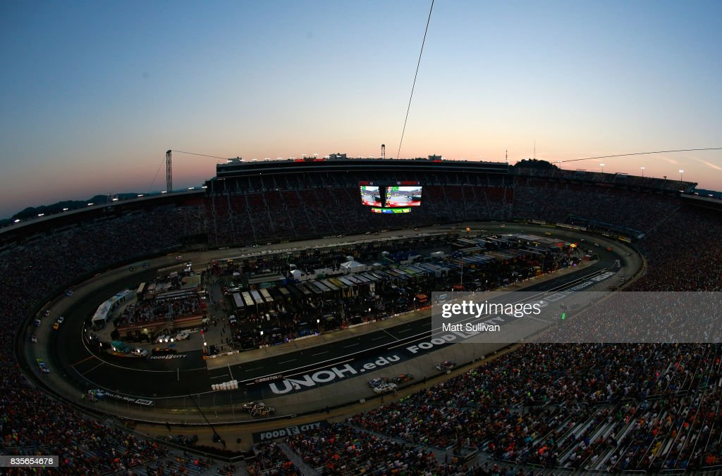General view during the Monster Energy NASCAR Cup Series Bass Pro Shops NRA Night Race at Bristol Motor Speedway on August 19, 2017 in Bristol, Tennessee.