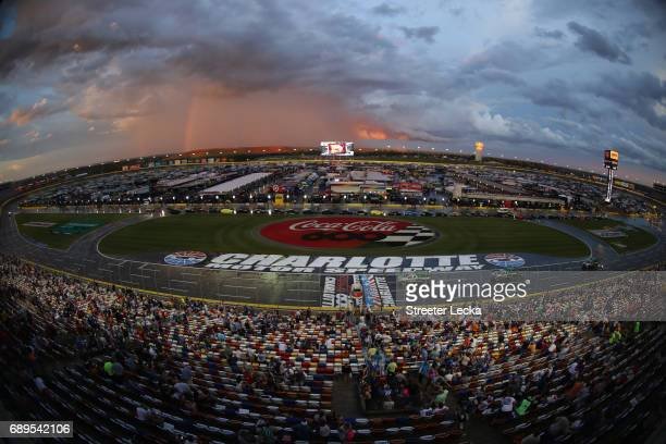 General view during the Monster Energy NASCAR Cup Series CocaCola 600 at Charlotte Motor Speedway on May 28 2017 in Charlotte North Carolina
