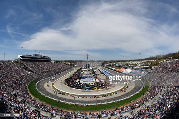 A general view during the Monster Energy NASCAR Cup Series STP 500 at Martinsville Speedway on April 2 2017 in Martinsville Virginia