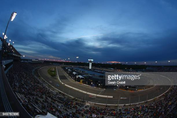 General view during the Monster Energy NASCAR Cup Series Toyota Owners 400 at Richmond Raceway on April 21 2018 in Richmond Virginia