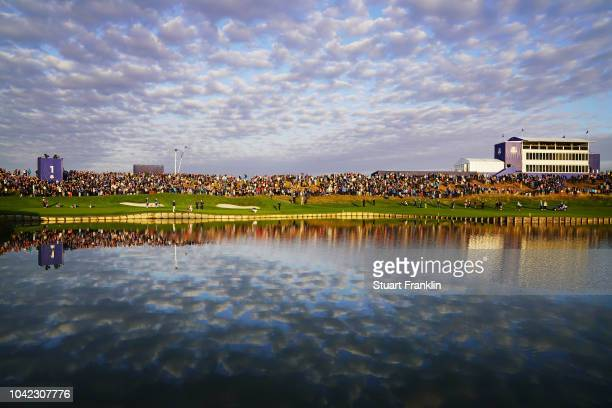 A general view during the morning fourball matches of the 2018 Ryder Cup at Le Golf National on September 28 2018 in Paris France