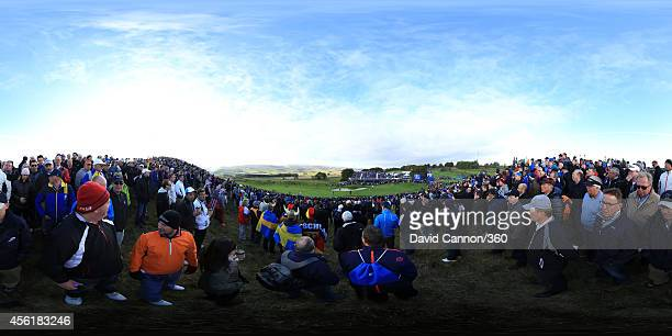 A general view during the Morning Fourballs of the 2014 Ryder Cup on the PGA Centenary course at the Gleneagles Hotel on September 27 2014 in...