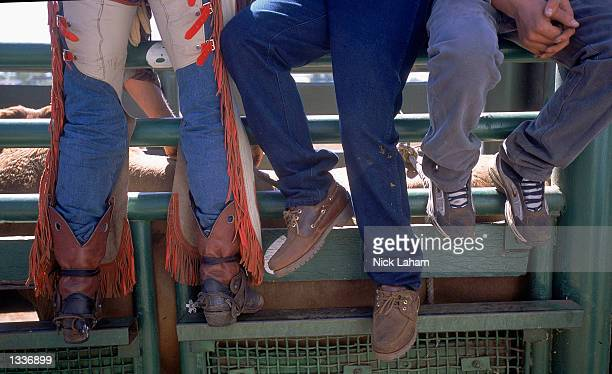 General view during the Mount Isa Rodeo held in Mount Isa Australia on August 11 2002 The rodeo event held in the Australian outback town is the...