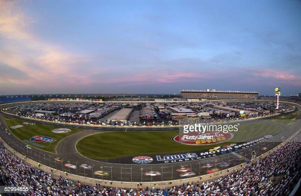 A general view during the NASCAR Busch Series Carquest Auto Parts 300 on May 28 2005 at the Lowes Motor Speedway in Concord North Carolina