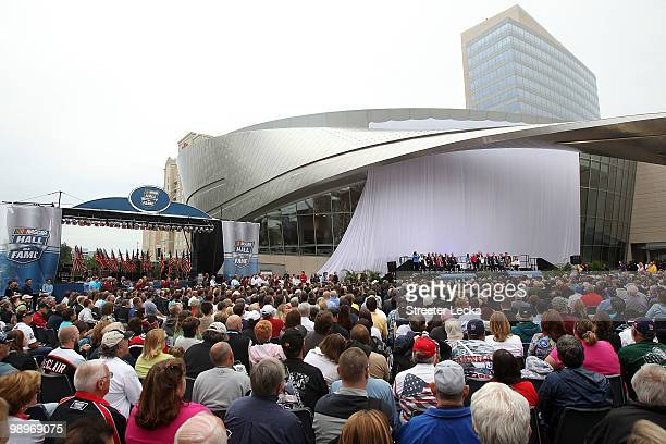A general view during the NASCAR Hall of Fame Grand Opening at the NASCAR Hall of Fame on May 11 2010 in Charlotte North Carolina