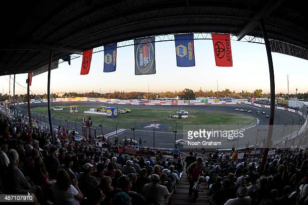 A general view during the NASCAR KN Toyota/NAPA Auto Parts 150 at the All American Speedway on October 11 2014 in Roseville California
