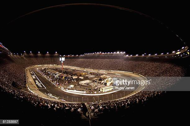 A general view during the NASCAR Nextel Cup series Sharpie 500 at Bristol Motor Speedway on August 28 2004 in Bristol Tennessee