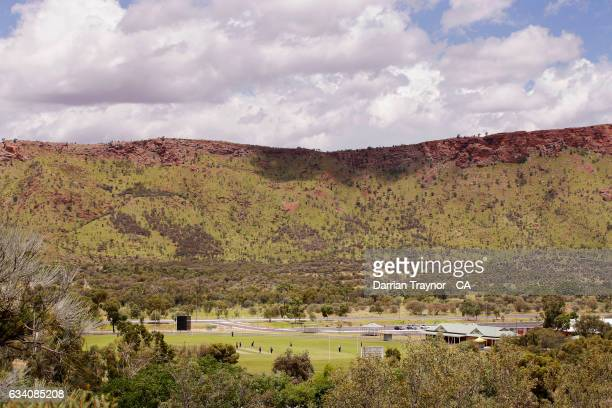 A general view during the National Indigenous Cricket Championships match between Victoria and Queensland on February 7 2017 in Alice Springs...