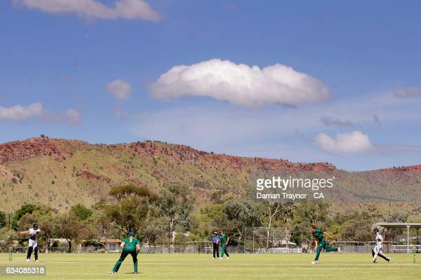 A general view during the National Indigenous Cricket Championships match between Tasmania and Northern Territory on February 7 2017 in Alice Springs...