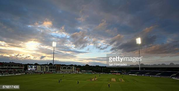A general view during the NatWest T20 Blast game between Durham Jets and Northamptonshire Steelbacks at Emirates Durham ICG on July 15 2016 in...