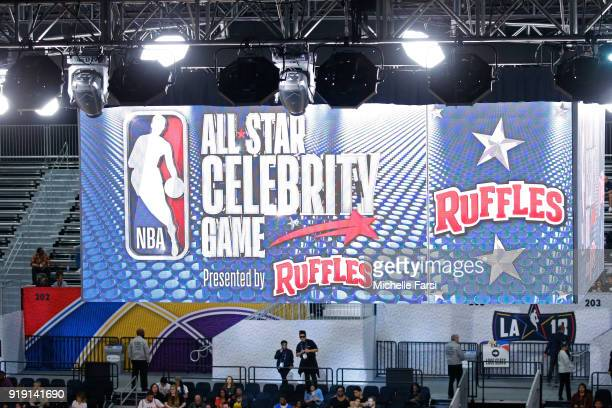 A general view during the NBA AllStar Celebrity Game presented by Ruffles as a part of 2018 NBA AllStar Weekend at the Los Angeles Convention Center...