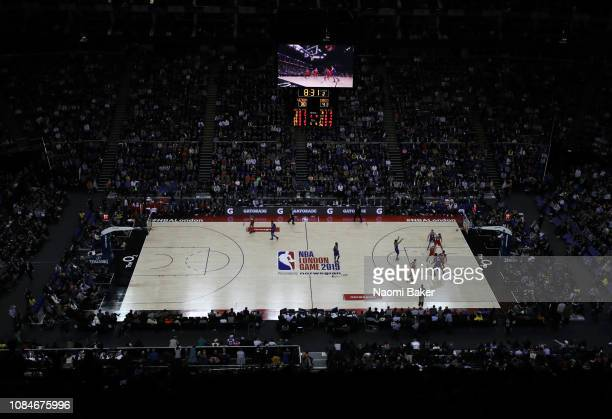 General view during the NBA London game 2019 between Washington Wizards and New York Knicks at The O2 Arena on January 17 2019 in London England