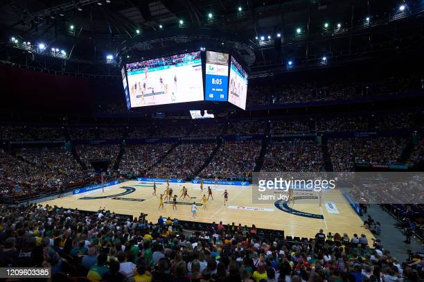 General view during the Netball Bushfire Relief Charity Match between the Australian Diamonds and the Super Netball All Stars at Qudos Bank Arena on...