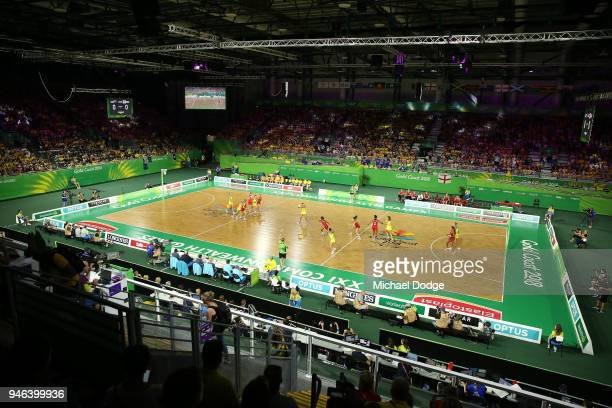 A general view during the Netball Gold Medal Match on day 11 of the Gold Coast 2018 Commonwealth Games at Coomera Indoor Sports Centre on April 15...