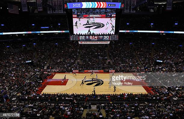 General View during the New Orleans Pelicans v Toronto Raptors NBA game at the Air Canada Centre on November 13 2015 in Toronto Ontario Canada NOTE...