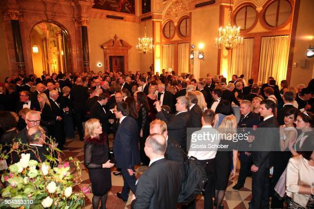 A general view during the new year reception of the Bavarian state government at Residenz on January 12 2018 in Munich Germany