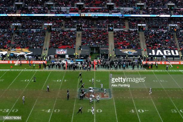 A general view during the NFL International Series match between Philadelphia Eagles and Jacksonville Jaguars at Wembley Stadium on October 28 2018...