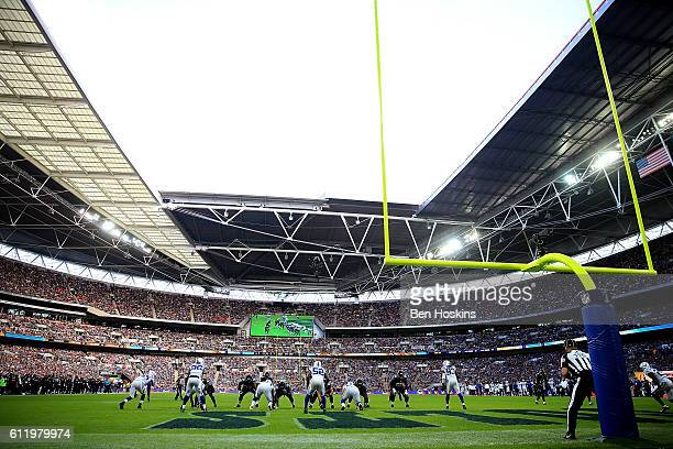 A general view during the NFL International Series match between Indianapolis Colts and Jacksonville Jaguars at Wembley Stadium on October 2 2016 in...