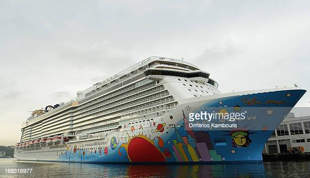 A general view during the Norwegian Breakaway Christening Ceremony on May 8 2013 in New York City