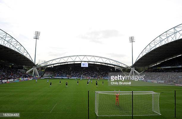 A general view during the npower Championship match between Huddersfield Town and Derby County at Galpharm Stadium on September 15 2012 in...