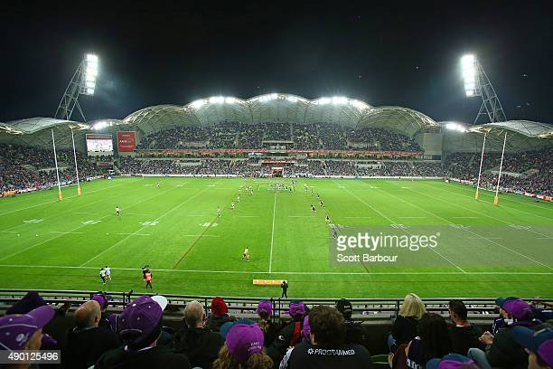 A general view during the NRL Second Preliminary Final match between the Melbourne Storm and the North Queensland Cowboys at AAMI Park on September...