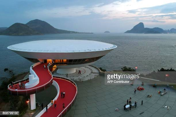 General view during the Nuit Blanche exhibition, within celebrations for the Alliance Francaise's 50th anniversary, at the Niterói Contemporary Art...