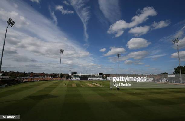 A general view during the One Day International match between England Lions and SouthAfrica A at The County Ground on June 3 2017 in Northampton...