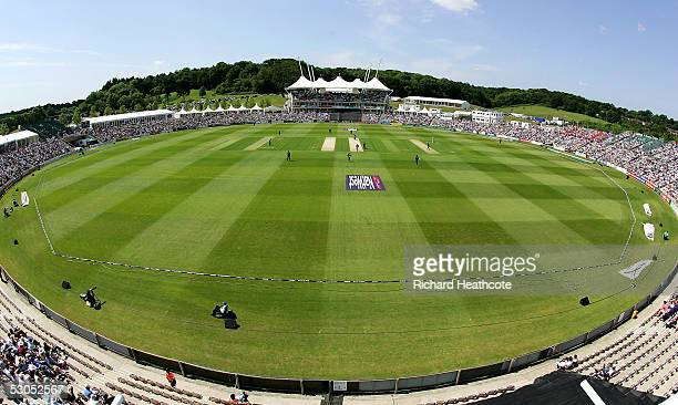 A general view during the one day match England against Hampshire at the Rose Bowl on June 11 2005 in Southampton England