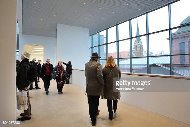A general view during the open day at the new Kunsthalle Mannheim art museum on December 17 2017 in Mannheim Germany The museum is the largest...
