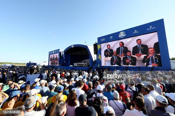 A general view during the opening ceremony for the 2018 Ryder Cup at Le Golf National on September 27 2018 in Paris France