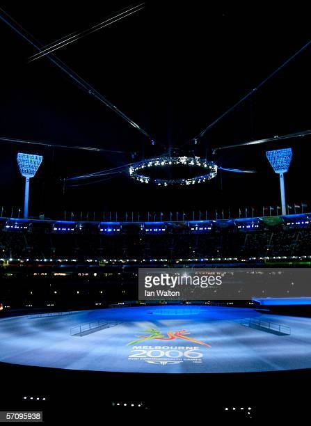 General view during the Opening Ceremony for the Melbourne 2006 Commonwealth Games at the Melbourne Cricket Ground March 15, 2006 in Melbourne,...