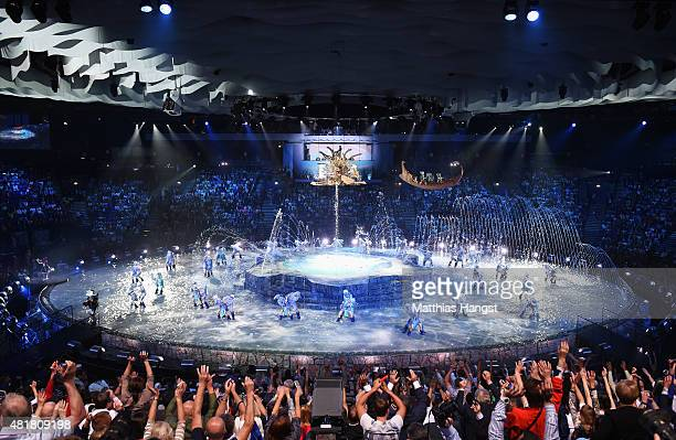 A general view during the Opening Ceremony of the 16th FINA World Championships at TatNeft Arena on July 24 2015 in Kazan Russia