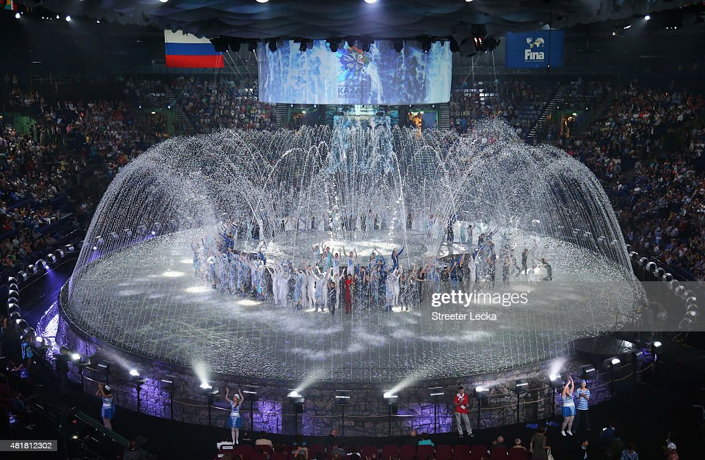 A general view during the Opening Ceremony of the 16th FINA World Championships at TatNeft Arena on July 24, 2015 in Kazan, Russia.