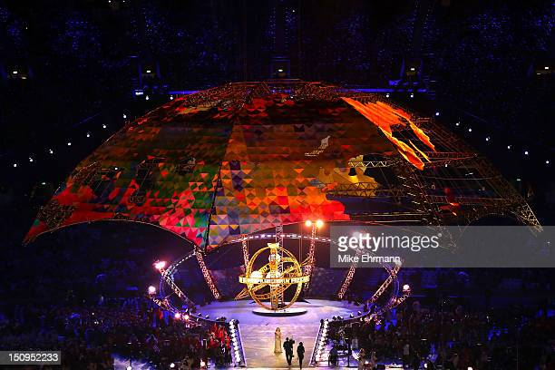 A general view during the Opening Ceremony of the London 2012 Paralympics at the Olympic Stadium on August 29 2012 in London England