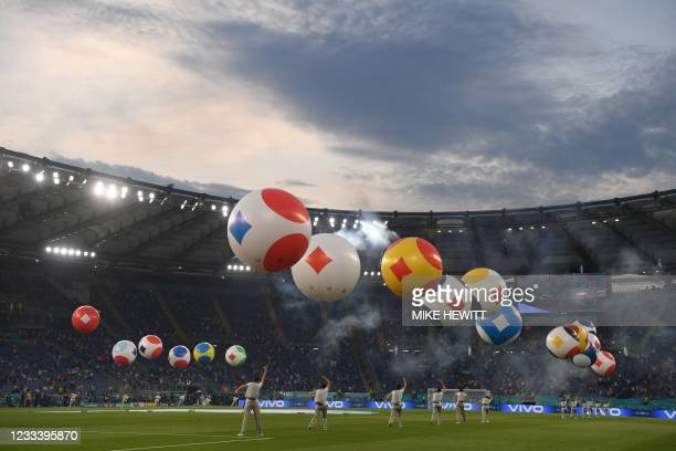 General view during the opening ceremony of the UEFA EURO 2020 football tournament prior to Group A match between Turkey and Italy at the Olympic...