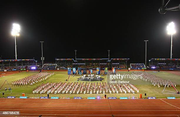 A general view during the Opening Ceremony of the Vth Commonwealth Youth Games at Apia Park on September 5 2015 in Apia Samoa