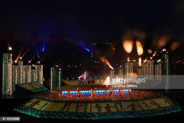A general view during the opening ceremony on day one of the Budapest 2017 FINA World Championships on July 14 2017 in Budapest Hungary