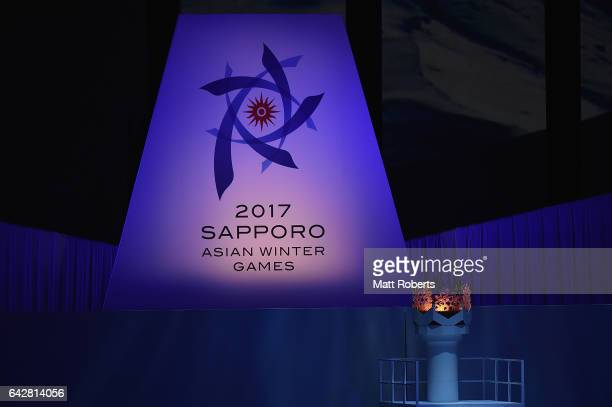General view during the Opening Ceremony on day two of the 2017 Sapporo Asian Winter Games at Sapporo Dome on February 19 2017 in Sapporo Japan