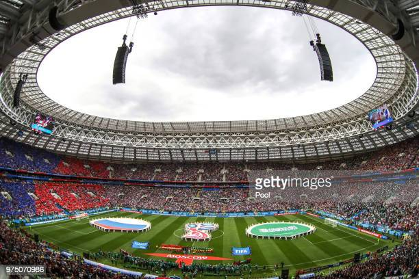 A general view during the opening ceremony prior to the 2018 FIFA World Cup Russia Group A match between Russia and Saudi Arabia at Luzhniki Stadium...