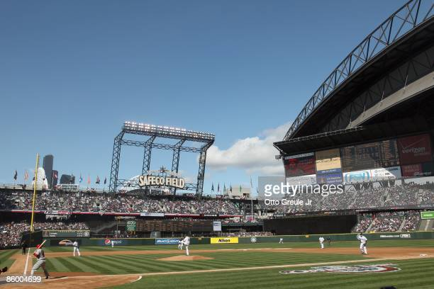 A general view during the Opening Day game between the Los Angeles Angels of Anaheim and the Seattle Mariners on April 14 2009 at Safeco Field in...