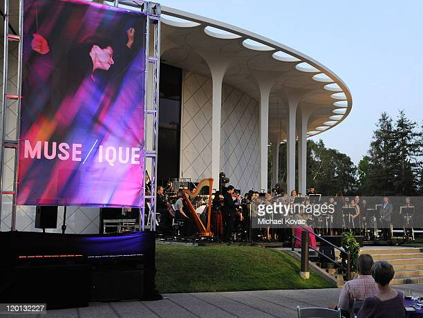 General view during the opening of new orchestra MUSE/IQUE at Caltech's Beckman Mall on July 30 2011 in Pasadena California
