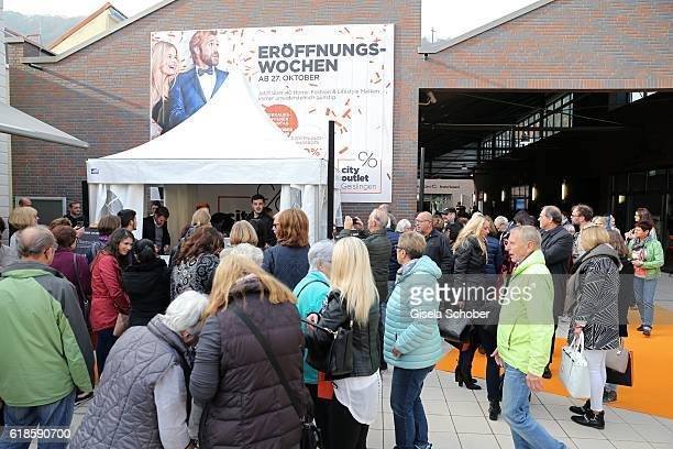 A general view during the opening of the City Outlet Geislingen on October 27 2016 in Geislingen Germany