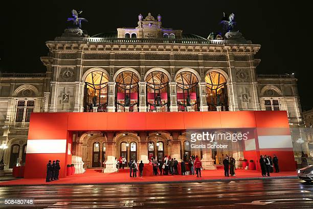 A general view during the Opera Ball Vienna 2016 at Vienna State Opera on February 4 2016 in Vienna Austria