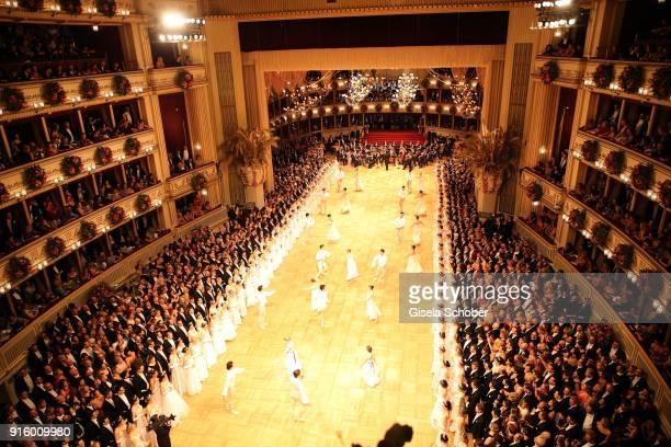 A general view during the Opera Ball Vienna at Vienna State Opera on February 8 2018 in Vienna Austria