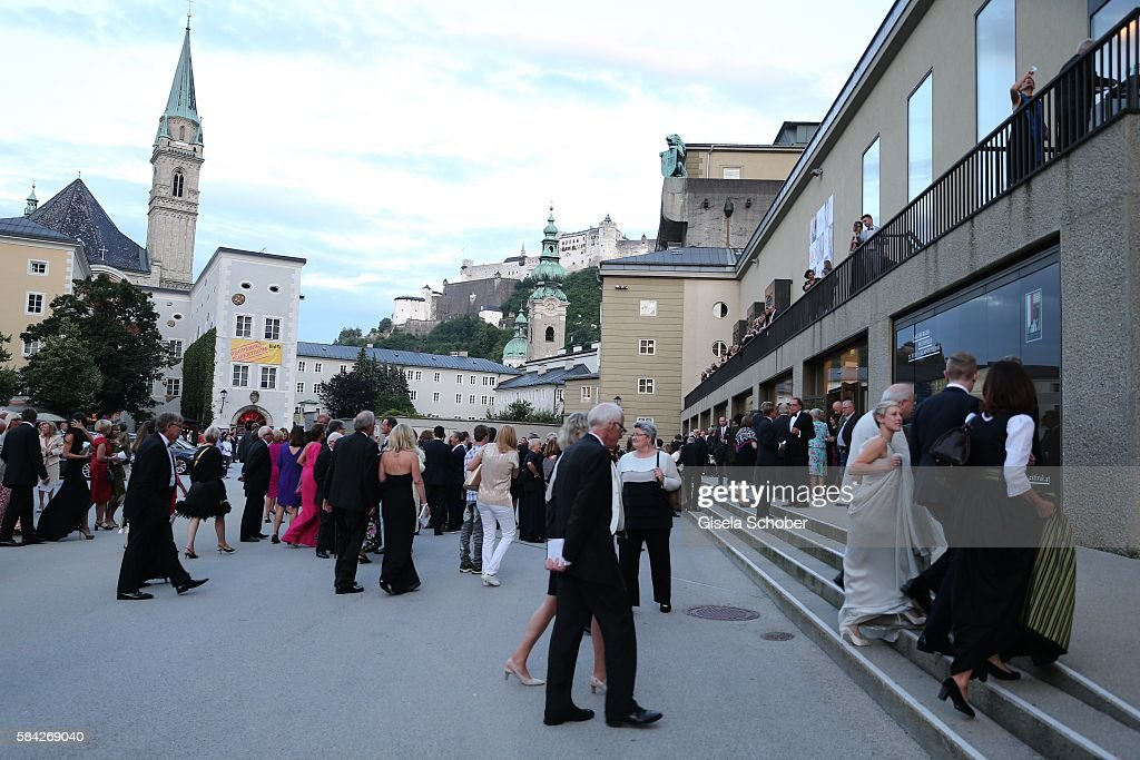 A general view during the opera premiere 'The Exterminating Angel' at Haus fuer Mozart on July 28, 2016 in Salzburg, Austria.